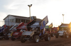 Four Wide at Humberstone Speedway